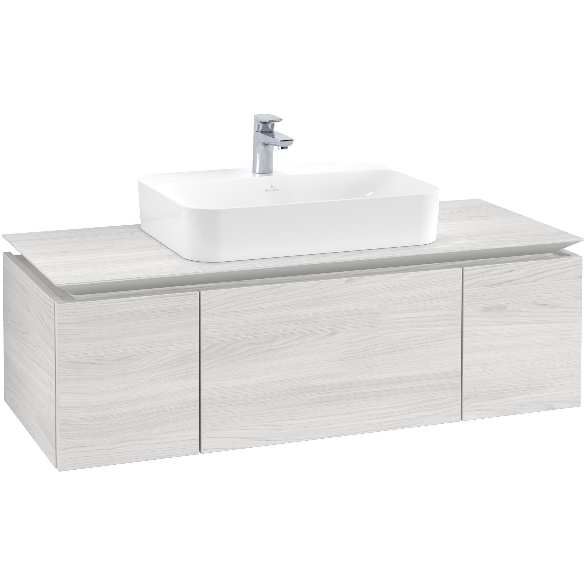 Tvättställsskåp Villeroy & Boch Legato Kompakt med 3 Lådor för Ytmonterat Tvättställ från Finion & Memento