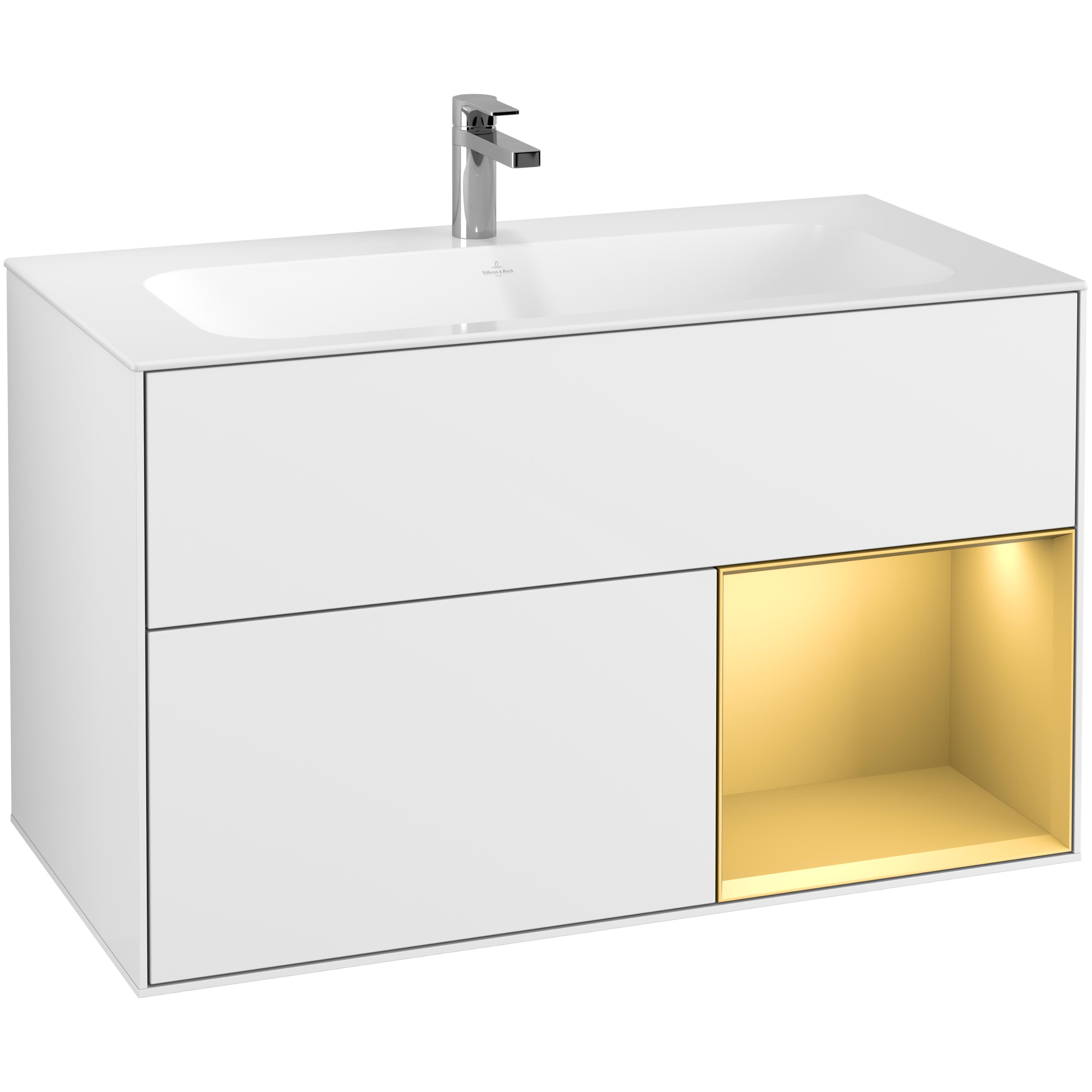 Tvättställsskåp Villeroy & Boch Finion med 2 Lådor och Hylla för Inbyggt Tvättställ