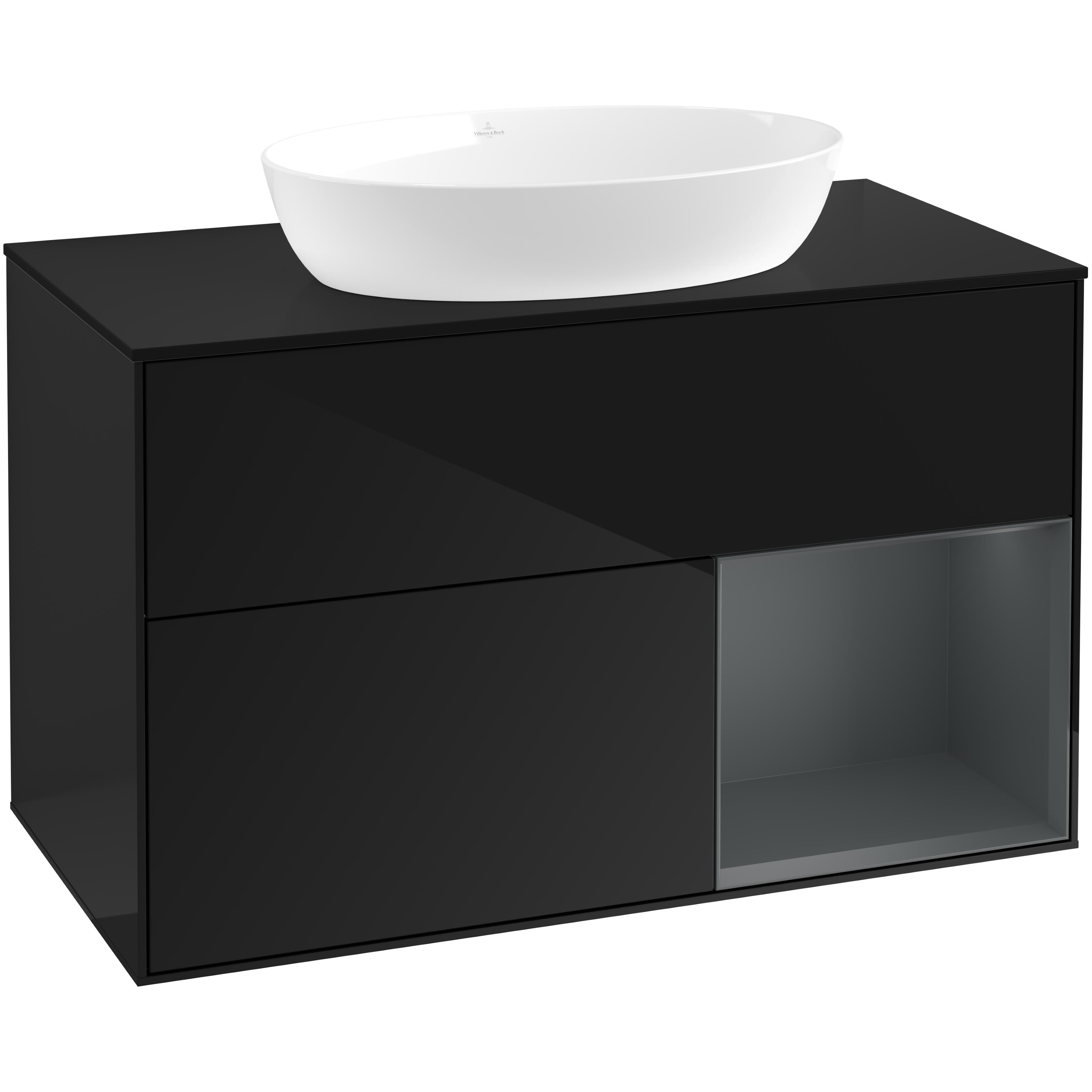 Tvättställsskåp Villeroy & Boch Finion med 2 Lådor Hylla och Bänkskiva för Fristående Tvättställ från Artis & Collaro