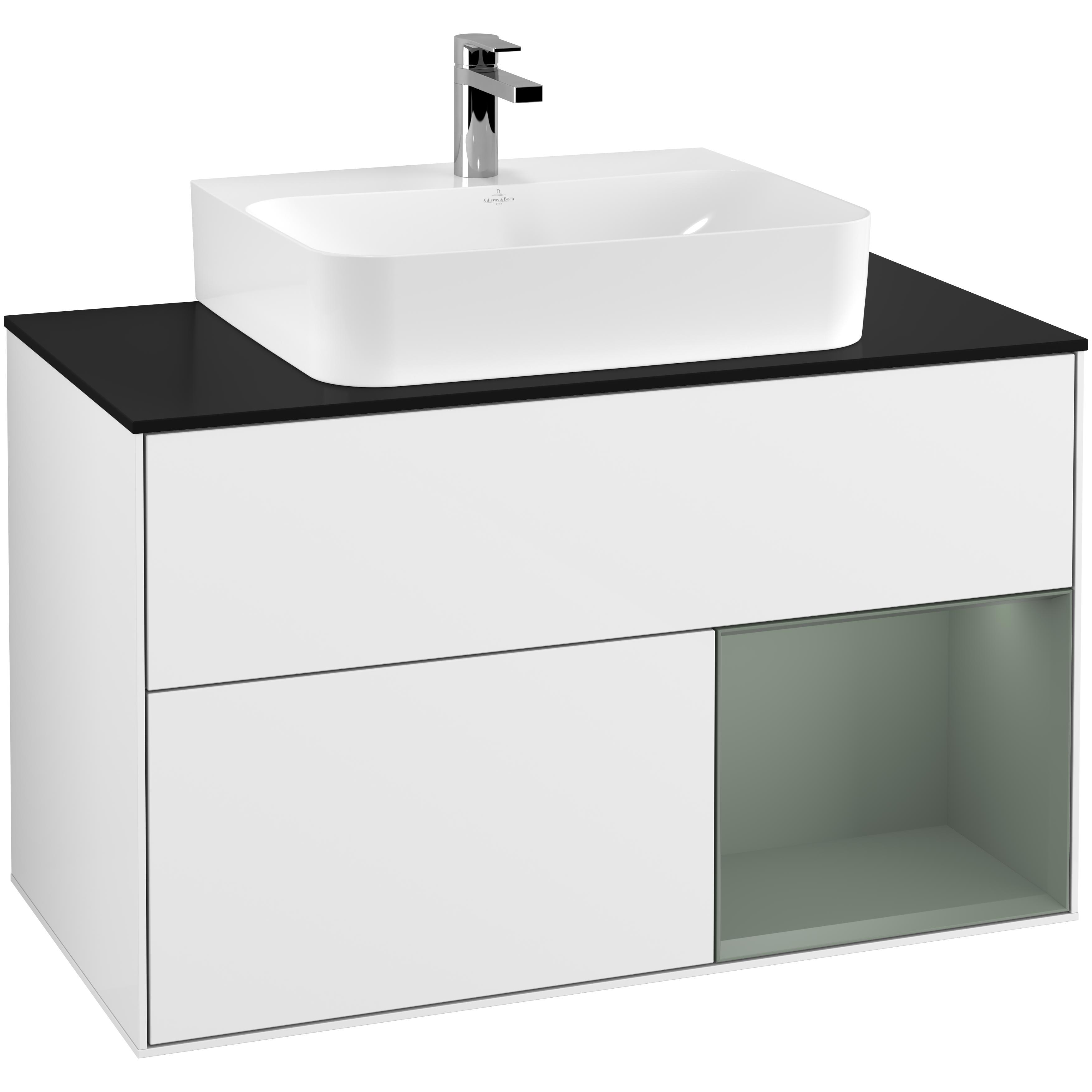 Tvättställsskåp Villeroy & Boch Finion med 2 Lådor Hylla och Bänkskiva för Centrerat Tvättställ