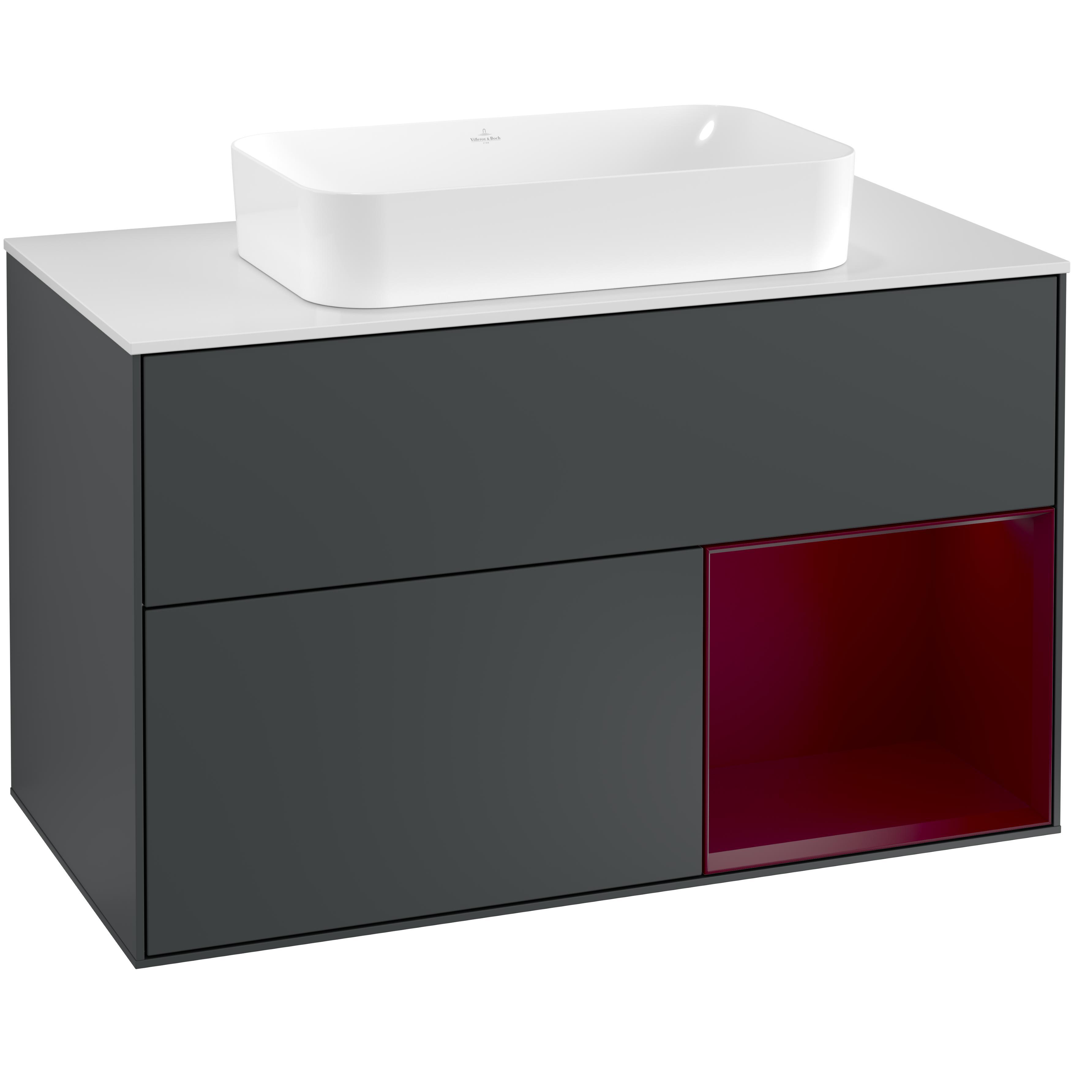 Tvättställsskåp Villeroy & Boch Finion med 2 Lådor Hylla och Bänkskiva för Fristående Tvättställ