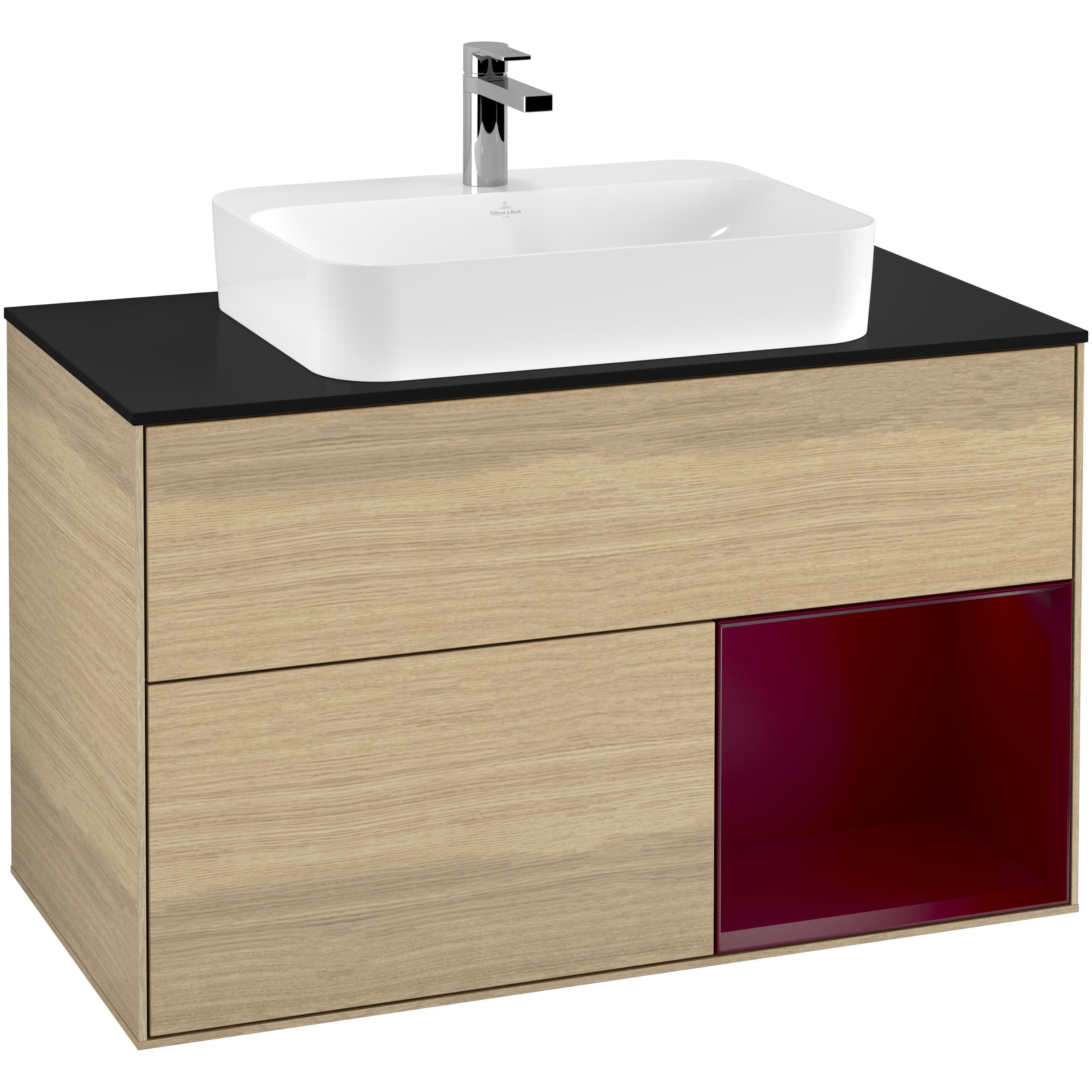 Tvättställsskåp Villeroy & Boch Finion med 2 Lådor Hylla och Bänkskiva för Ytmonterat Tvättställ