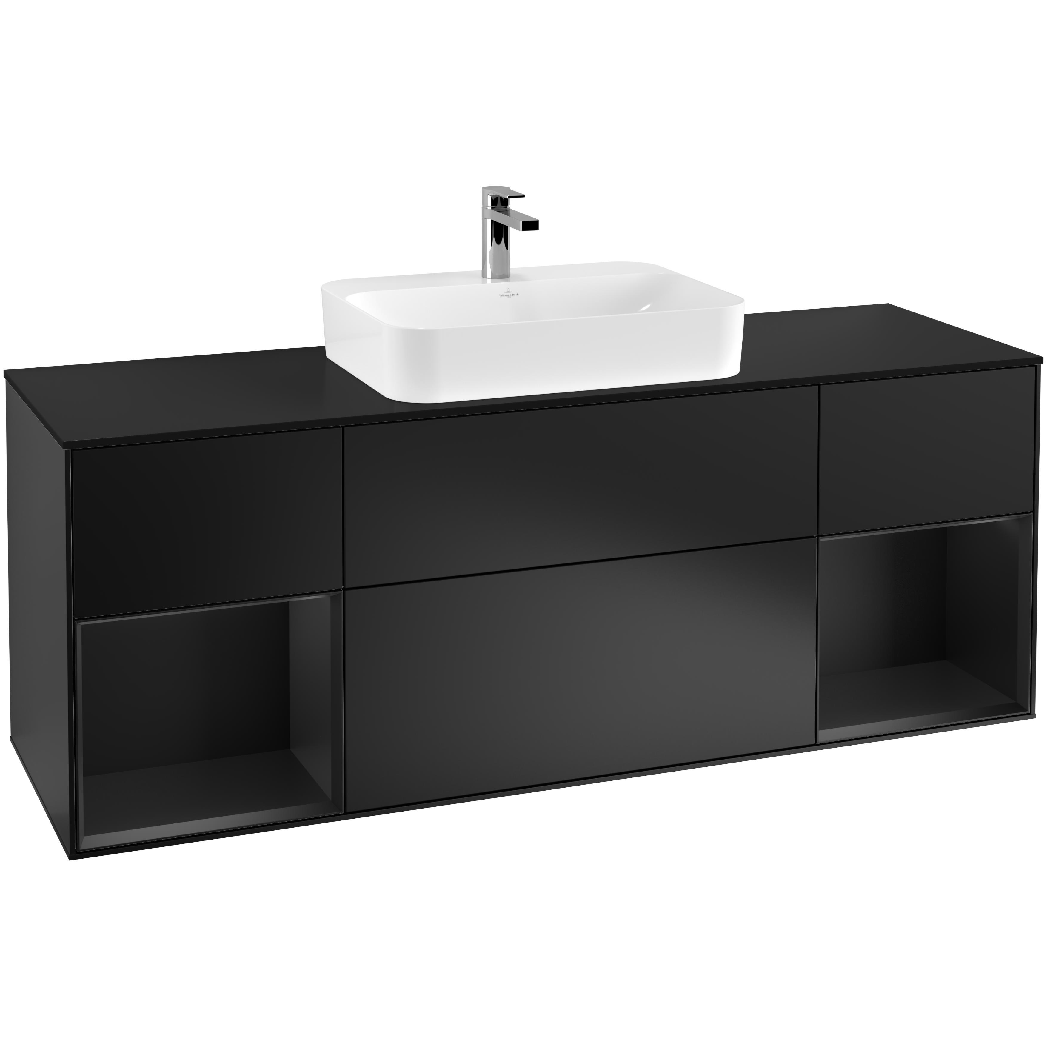 Tvättställsskåp Villeroy & Boch Finion med Två Hyllor och Bänkskiva för Ytmonterat Tvättställ