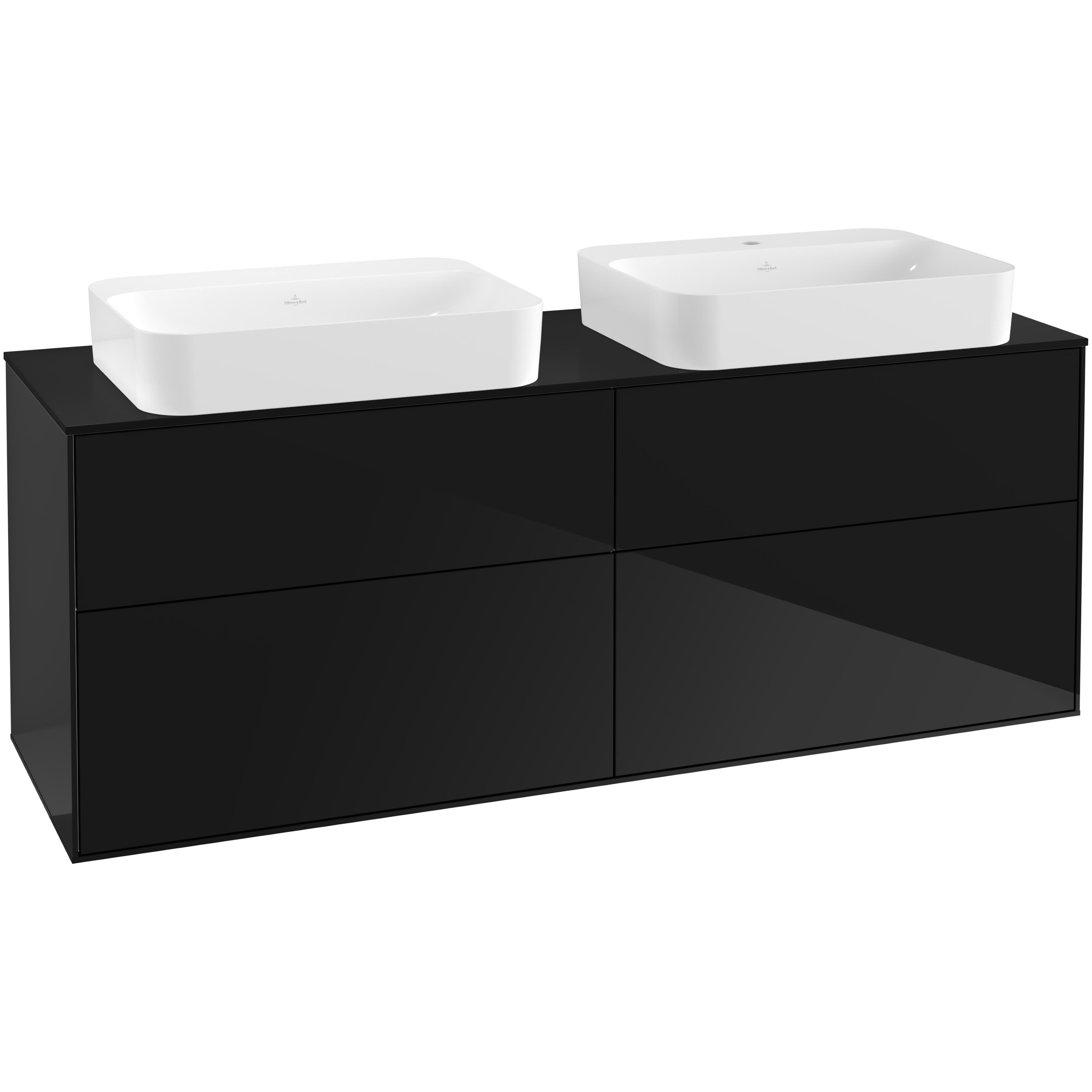 Tvättställsskåp Villeroy & Boch Finion med 4 Lådor och Bänkskiva för Två Fristående Tvättställ