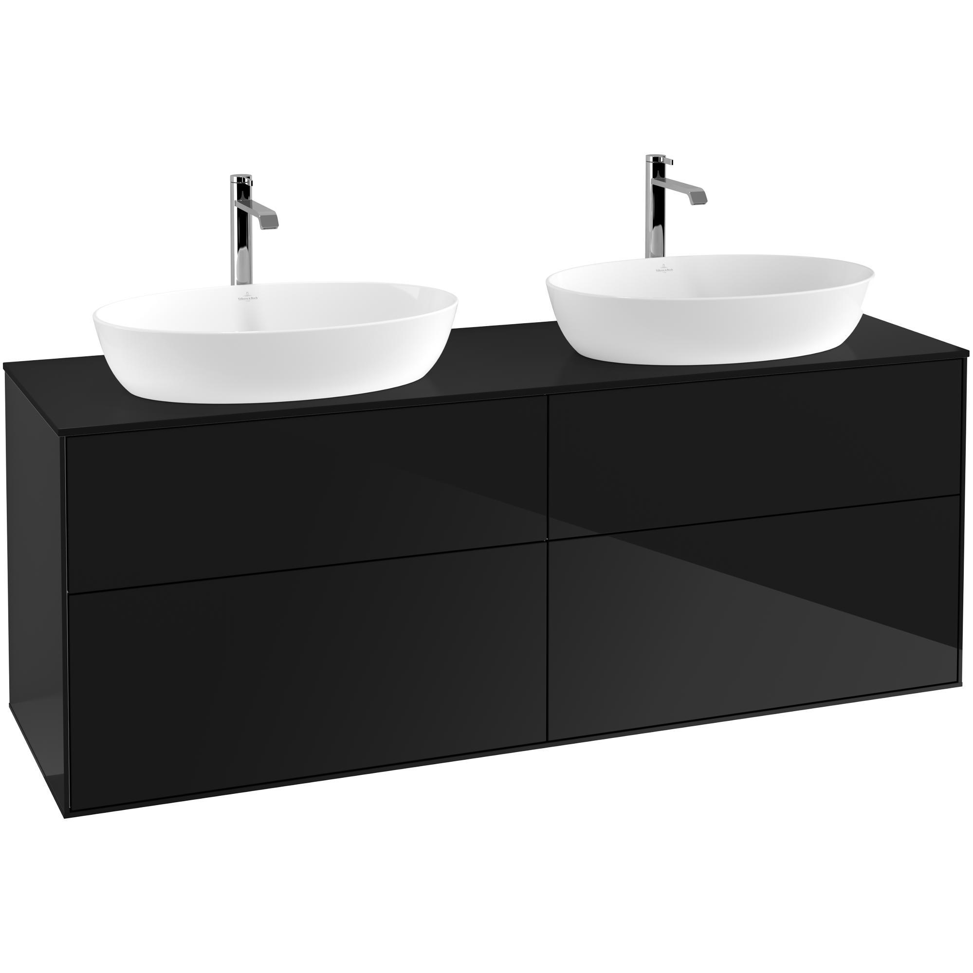 Tvättställsskåp Villeroy & Boch Finion med 4 Lådor och Bänkskiva för Två Fristående Tvättställ från Artis & Collaro