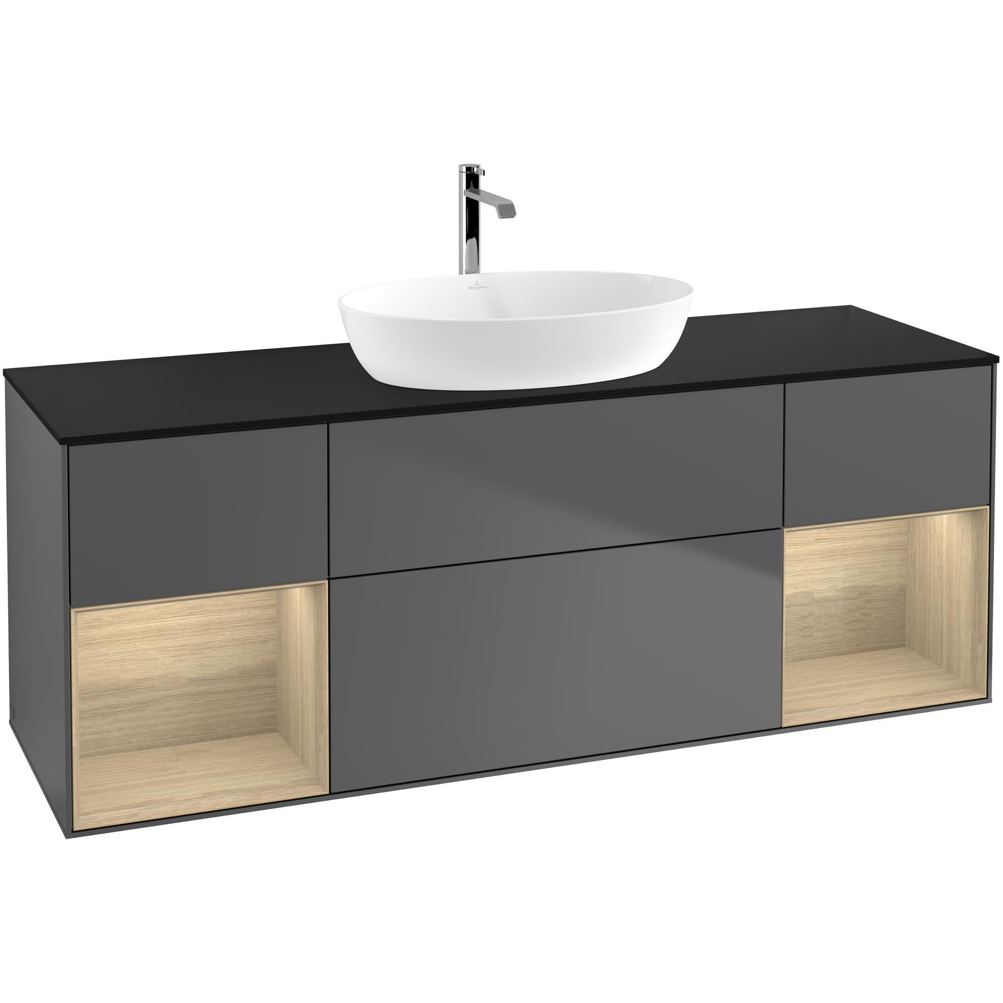 Tvättställsskåp Villeroy & Boch Finion med Två Hyllor och Bänkskiva för Fristående Tvättställ från Artis & Collaro