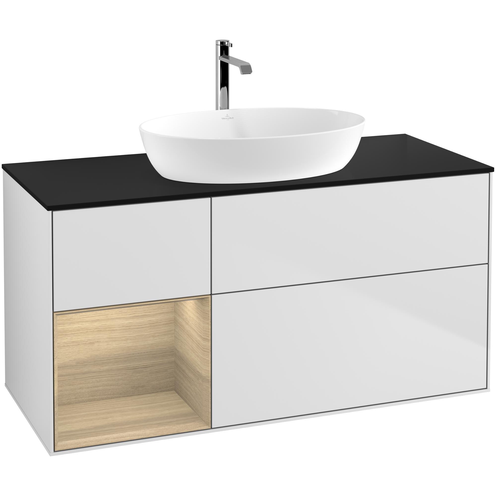 Tvättställsskåp Villeroy & Boch Finion med 3 Lådor Hylla och Bänkskiva för Fristående Tvättställ från Artis & Collaro