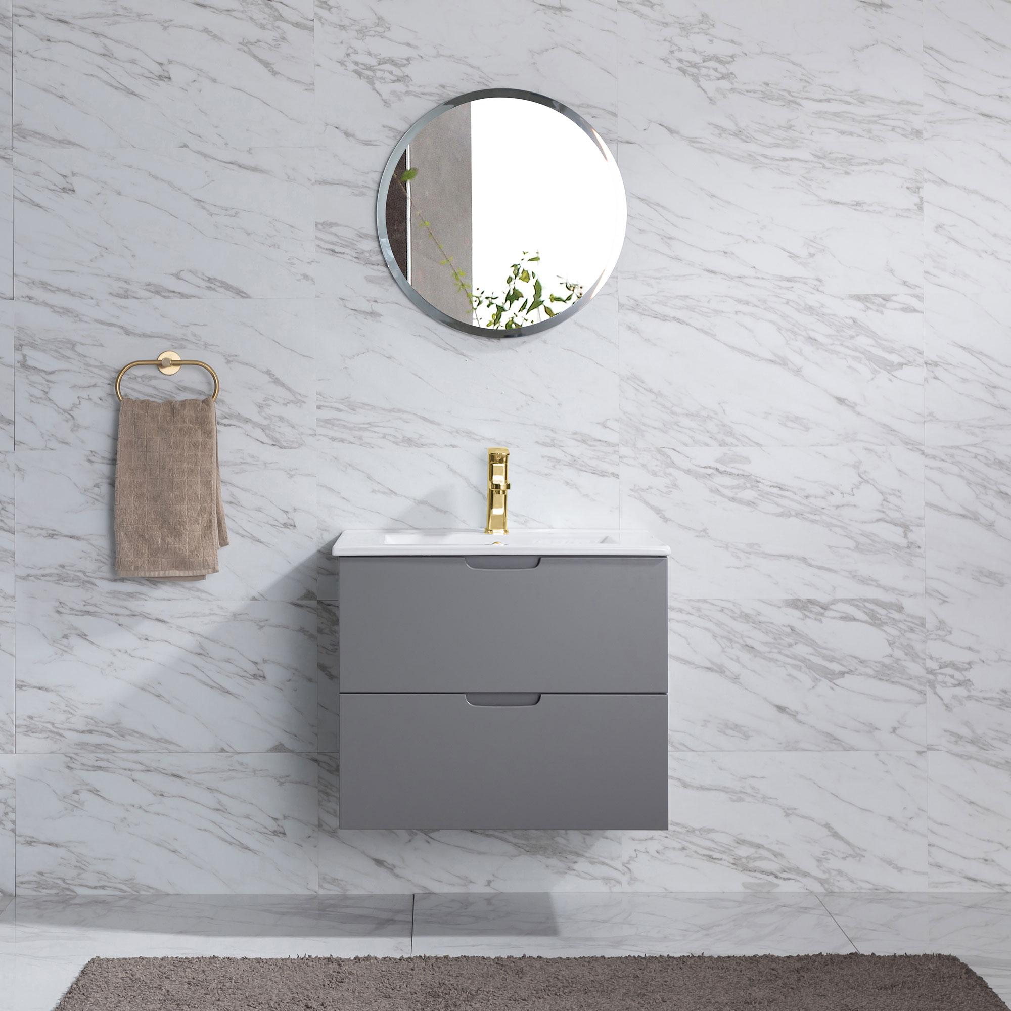 Tvättställsskåp Bathlife Glädje Grå