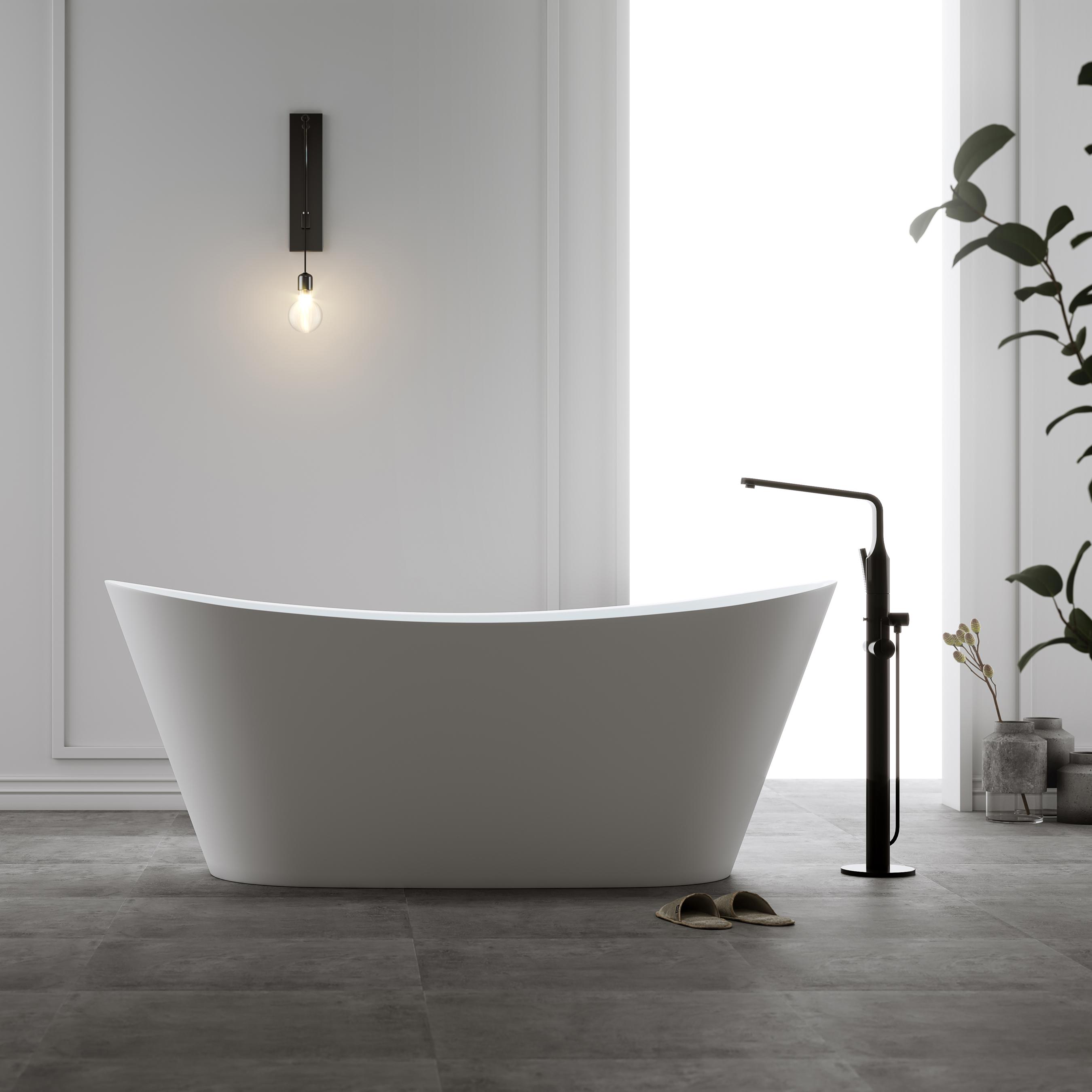 Badkar Bathlife Relax Fristående Matt Vit