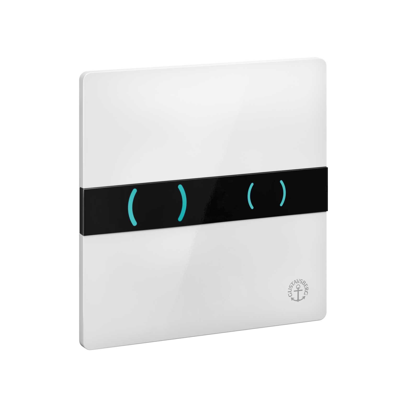 Spolknapp Gustavsberg Sensorstyrd för WC-fixtur Triomont XS Vit