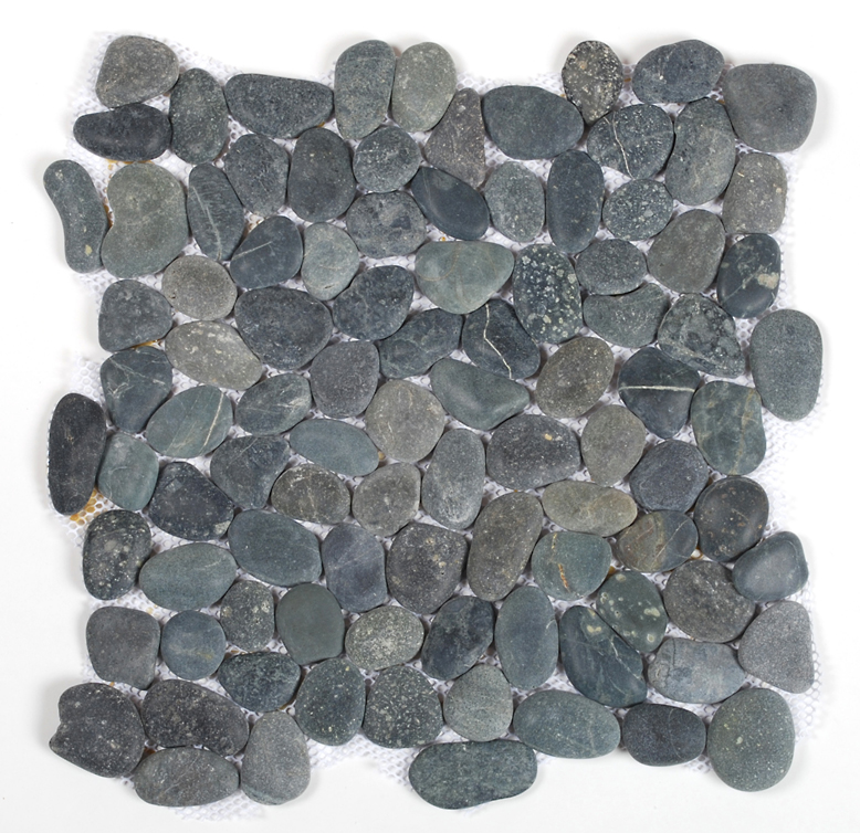 Natursten Stone Pebbels Black 30x30 cm