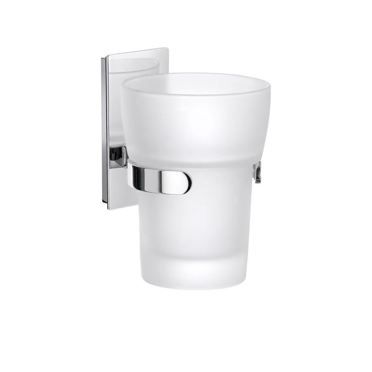 Tandborstglas Smedbo Pool ZK343 Krom/Frostat Glas