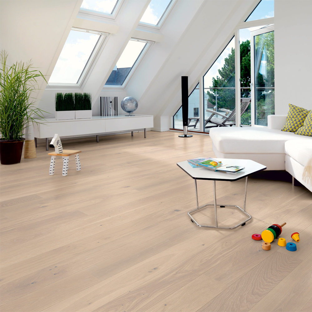 Tarkett Trägolv Shade Ek Satin White Plank