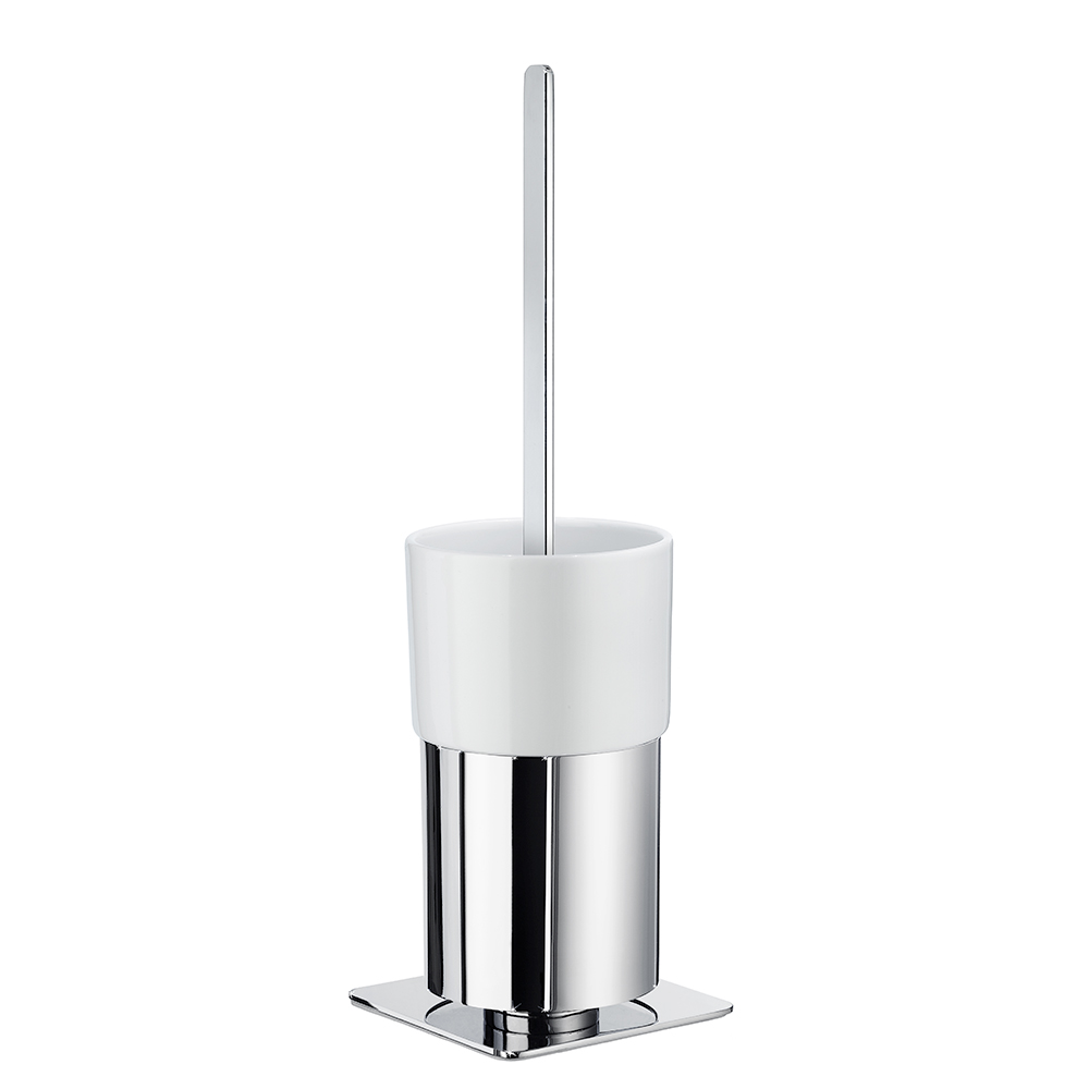 Toalettborste Smedbo Outline FK321P Krom/Vitt Porslin