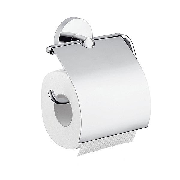 Toalettpappershållare Hansgrohe Logis med Lock