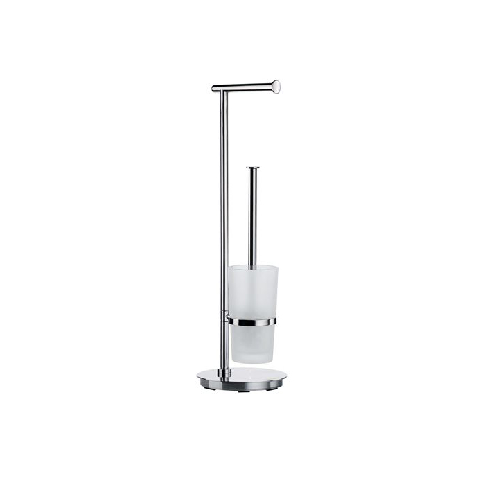 Toalettpappershållare/Toalettborste Smedbo Outline FK607 Rostfri