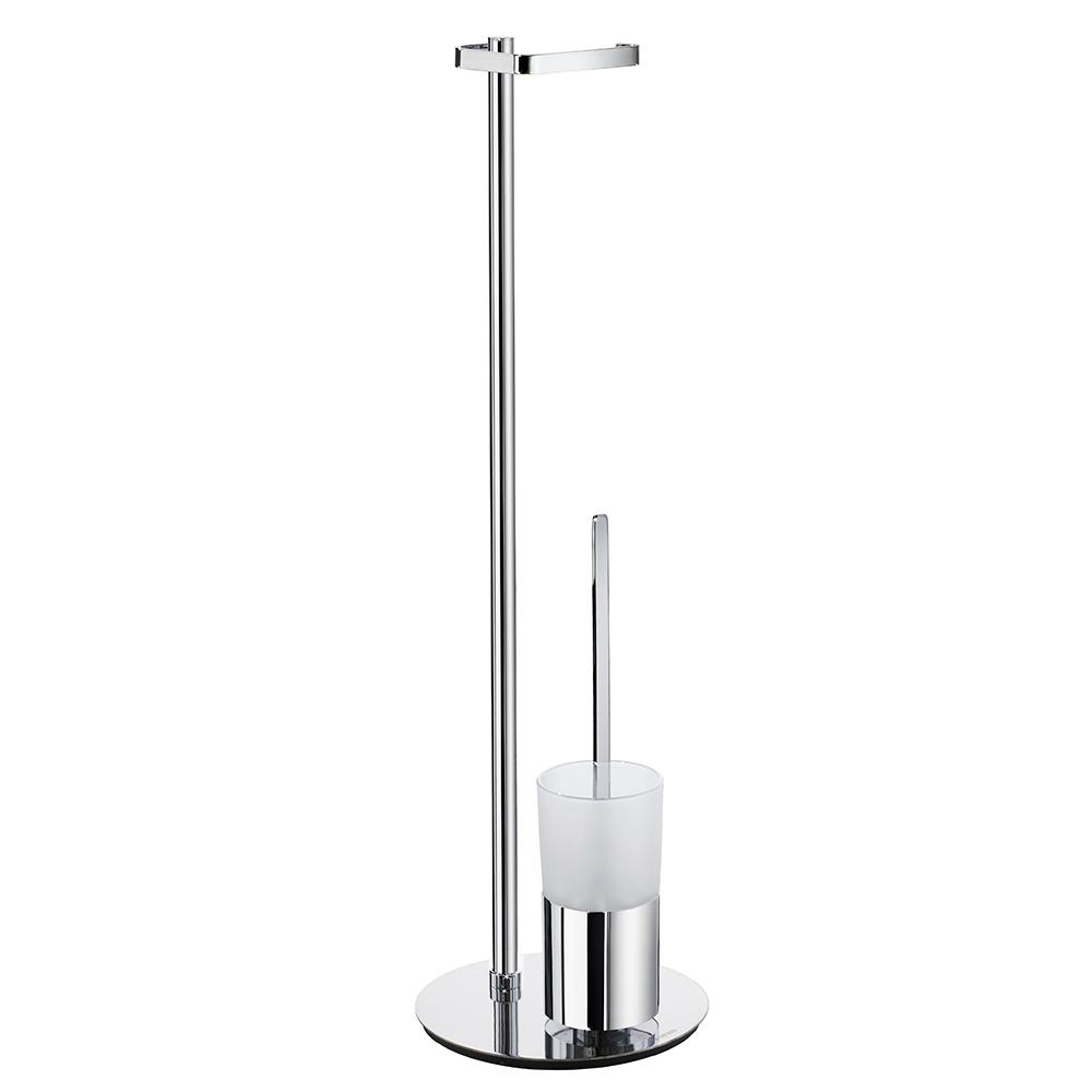 Toalettpappershållare Smedbo Outline FK312 Krom/Frostat Glas