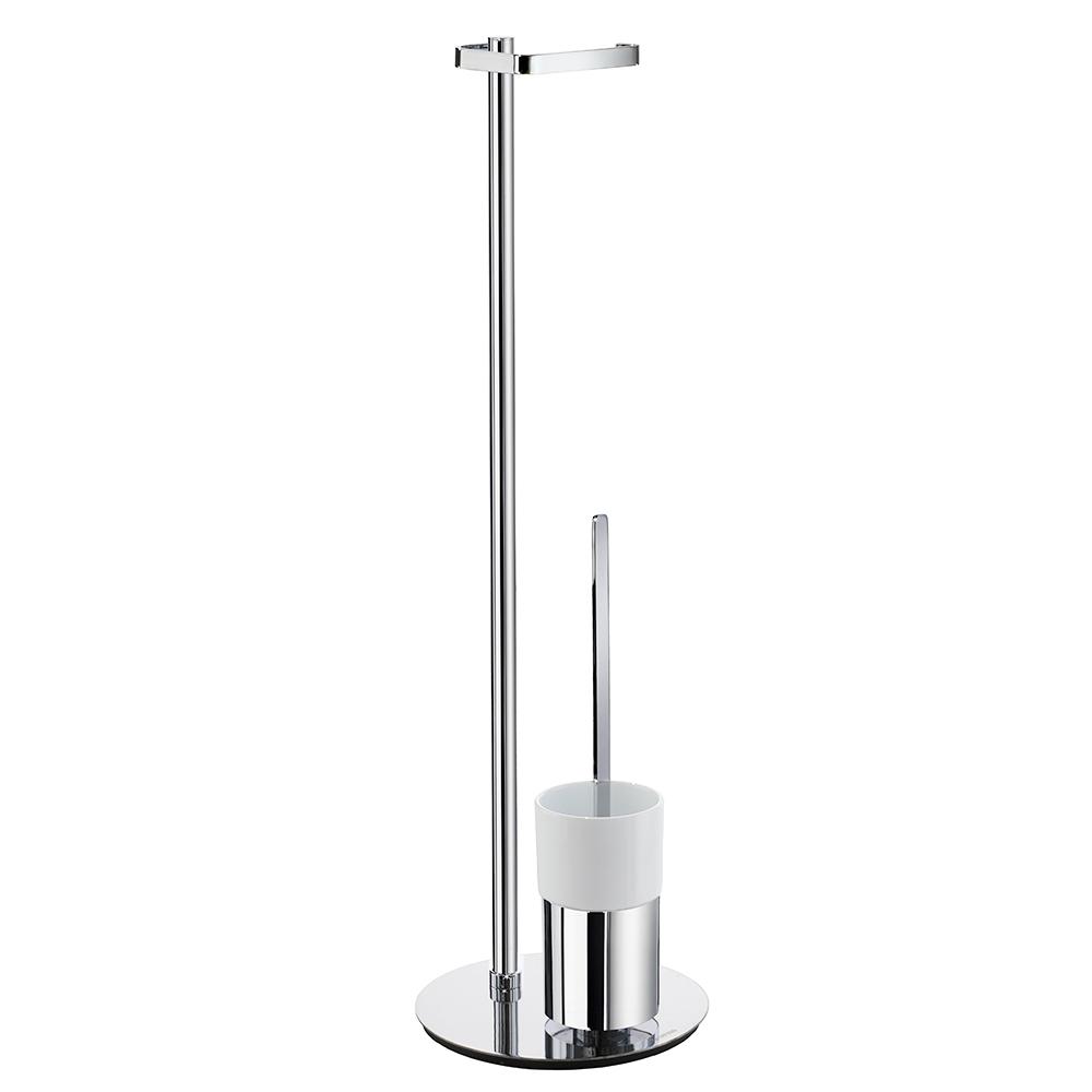 Toalettpappershållare Smedbo Outline FK312P Krom/Vitt Porslin