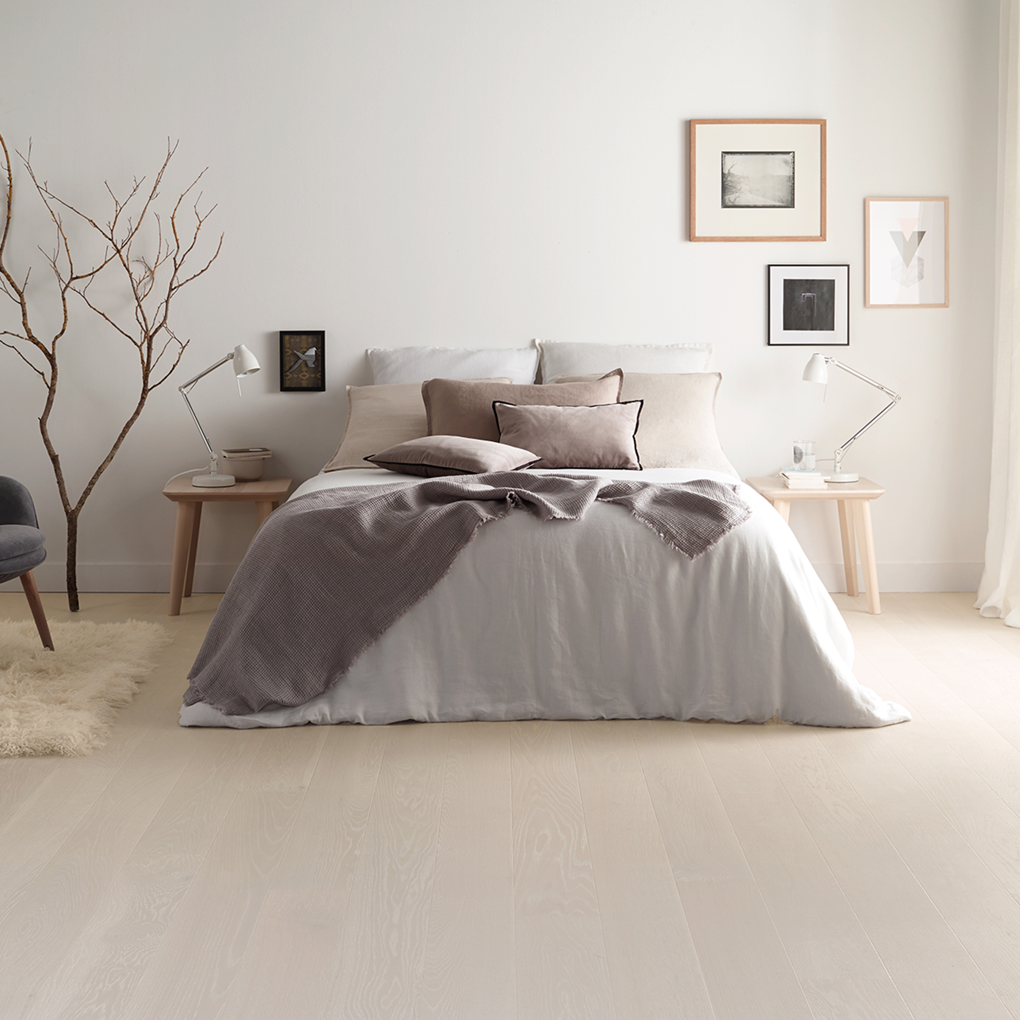 Trägolv Tarkett Shade Oak Cloud Grey Plank 7876110