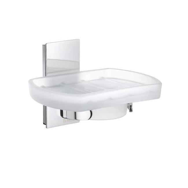 Tvålkopp Smedbo Pool ZK342 Krom/Frostat Glas