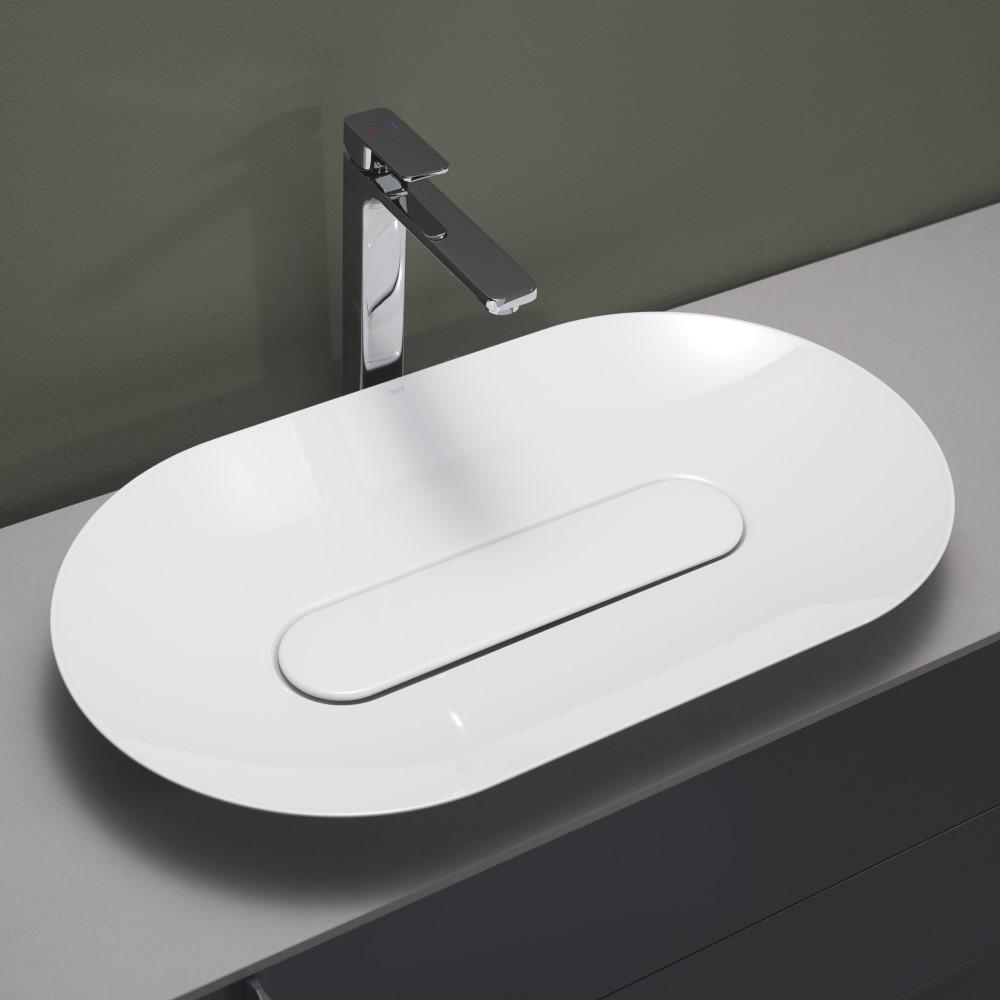 Tvättställ Hafa Edge Oval Glaserat Stål