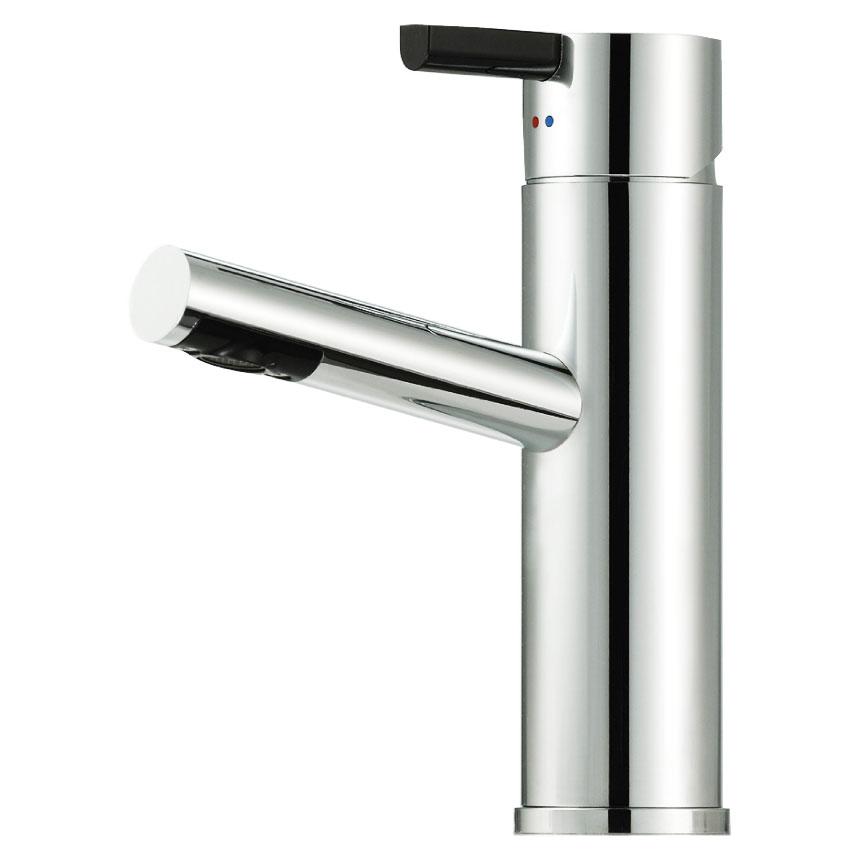 Tvättställsblandare Mora Rexx B5 Krom/Svart