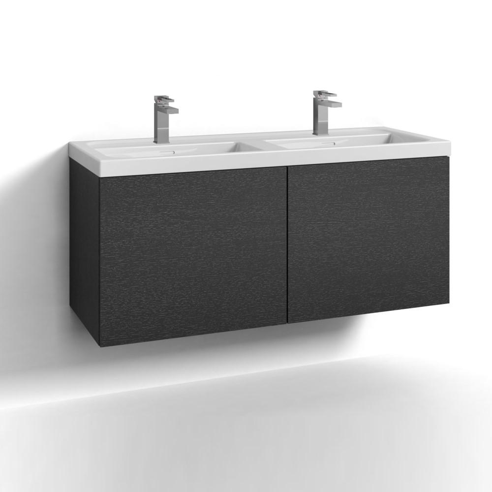 Tvättställsskåp Svedbergs Forma 120 Dubbel Två Lådor