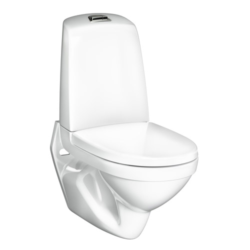 Vägghängd Toalettstol Gustavsberg Nautic 1522 Hygienic Flush