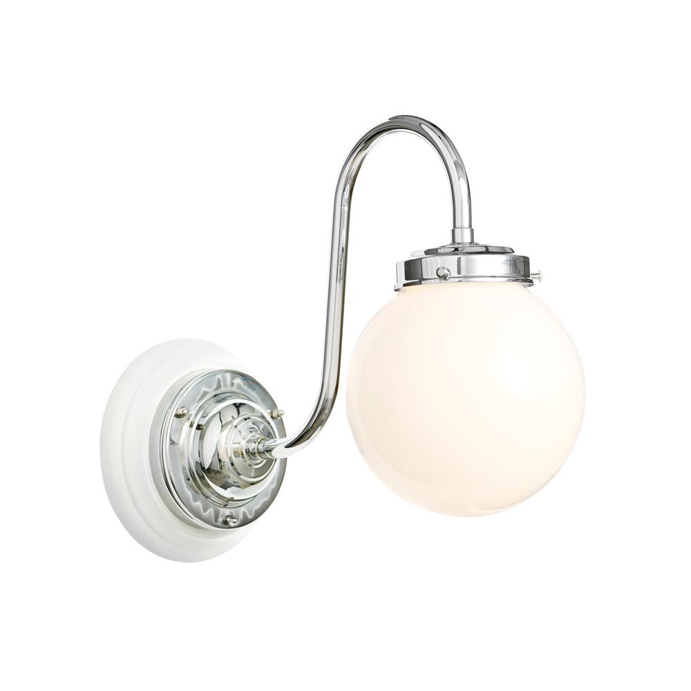 Vägglampa Miller Badrum med Väggplatta