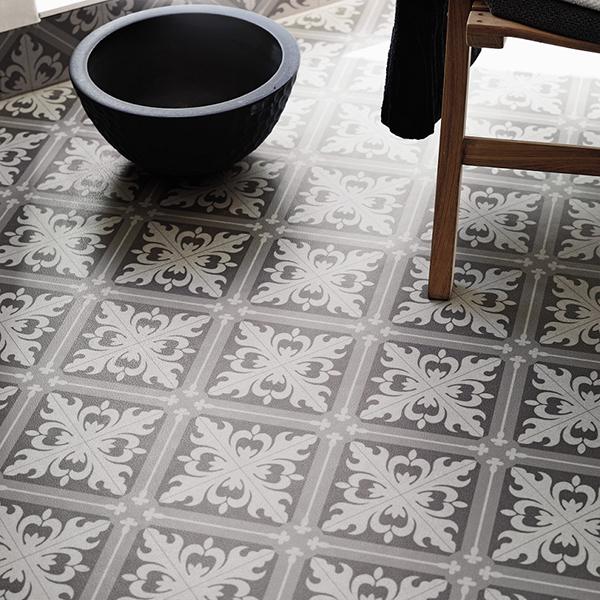 Våtrumsmatta Tarkett Aquarelle Designgolv Istanbul Medium Grey