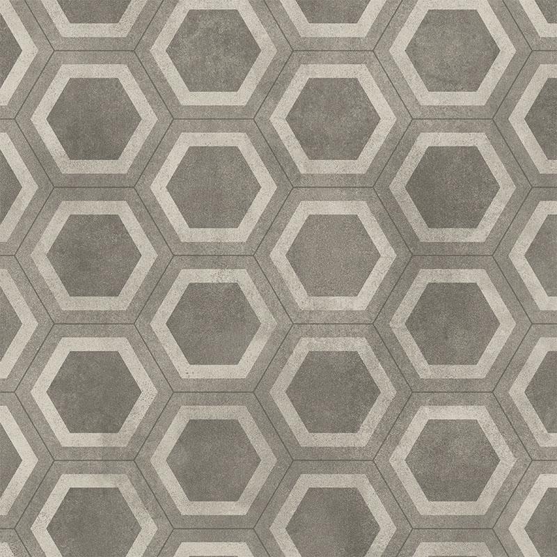 Våtrumsmatta Tarkett Aquarelle Honeycomb Tile Grey