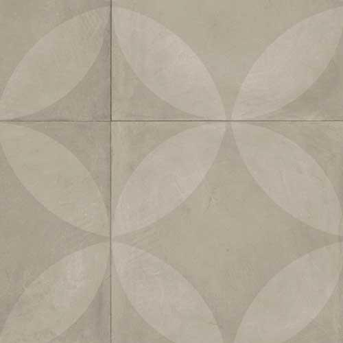 Vinylgolv Tarkett Trend 240 Tile Flower Light Grey