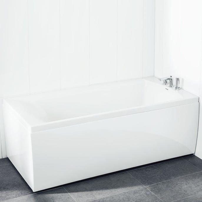 duschbadkar med vägg